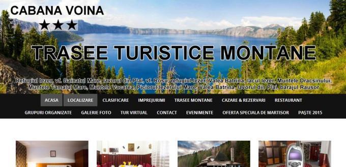 Creare site web Pitesti Arges, Creare site rezervari (booking) Cabana Voina Arges