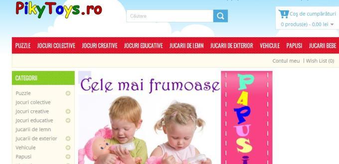 Creare magazin online PikyToys Deva