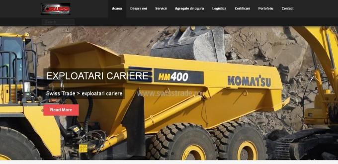 Creare site Swiss Trade Hunedoara, creare site de prezentare,Realizare site de prezentare