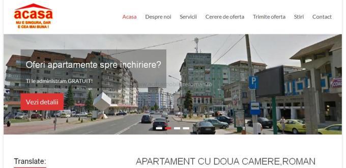 Creare site web Neamt,Creare site agentia imobiliara Acasa Roman