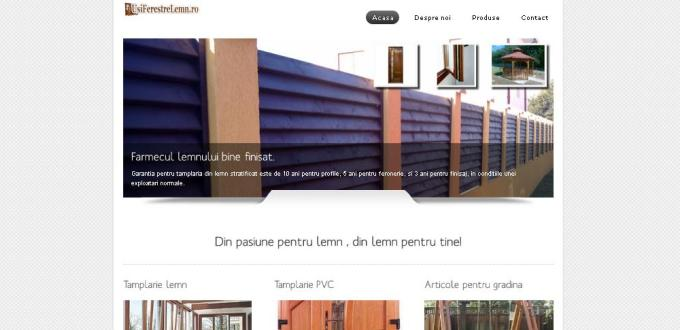 Creare site de prezentare usi ferestre lemn Alexandria