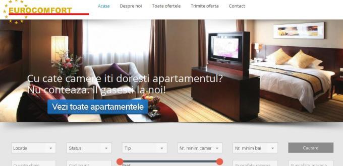 Creare site web agentia imobiliara Eurocomfort Galati