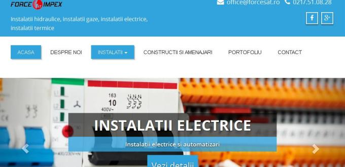 Creare site web Bucuresti,Creare site web de prezentare Force Sat Bucuresti