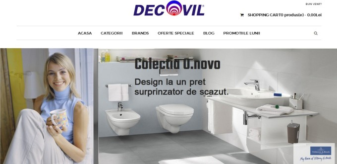 Creare magazin online Decovil Galati