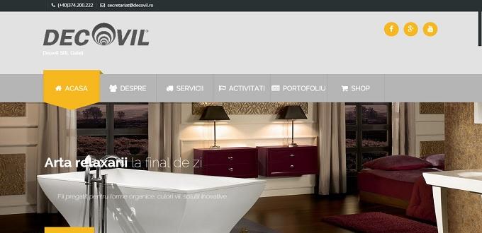 Creare site web Galati, Creare site web de prezentare Decovil Galati
