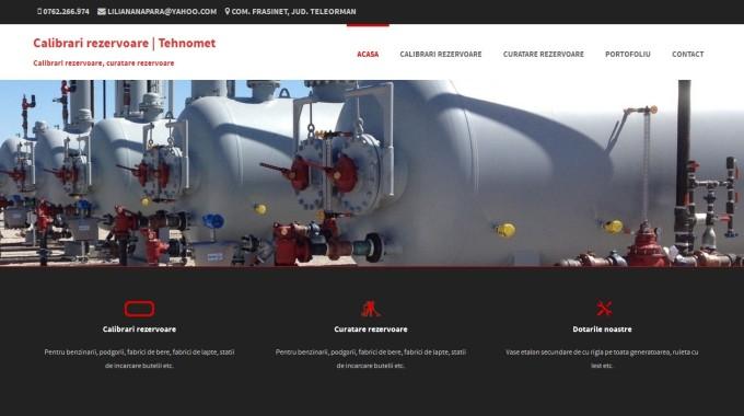 Creare site web de prezentare Tehnomet Teleorman