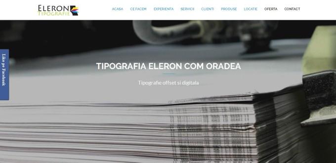 Creare site web de prezentare Eleron Com Oradea