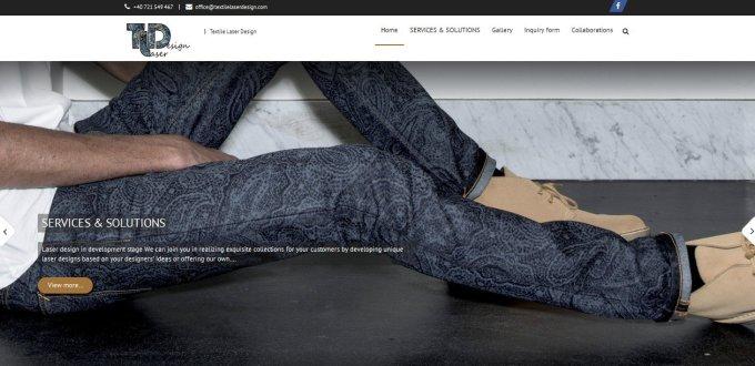 Creare site de prezentare Textile Laser Design Focsani