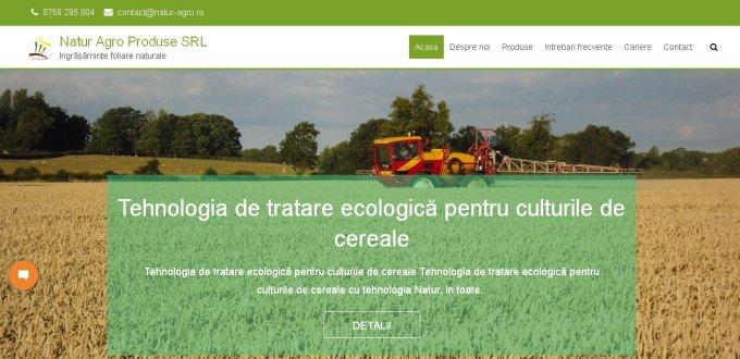 Creare site de prezentare Natur Agro Produse Oradea