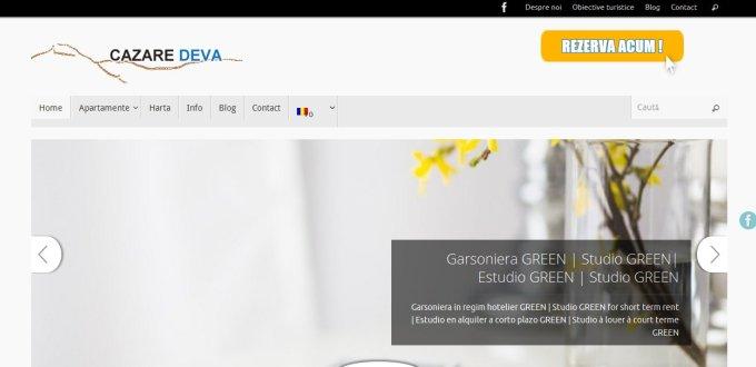 Creare site rezervari online, Creare site booking Cazare Deva
