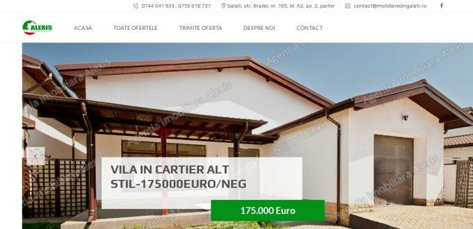 Creare site Alexis imobiliare Galati,Creare site agentie imobiliara