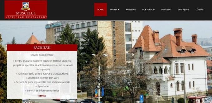Creare site de prezentare hotel Muscelul Campulung Muscel