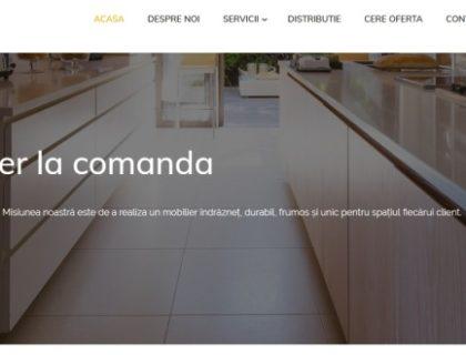 Site de prezentare mobilier la comanda